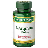 Buy L-Arginine 1000 mg 50 Tabs Nature's Bounty Online, UK Delivery, Amino Acid