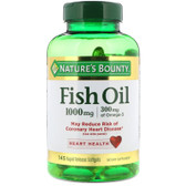 Buy Fish Oil Cholesterol Free 1000 mg 145 sGels Nature's Bounty Online, UK Delivery, EFA Omega EPA DHA