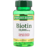 Buy Biotin Ultra Strength 10 000 mcg 120 sGels Nature's Bounty Online, UK Delivery, Gluten Free Vitamin B Biotin