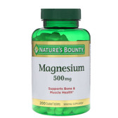 Buy Magnesium 500 mg 200Tabs Nature's Bounty Online, UK Delivery, Mineral Supplements