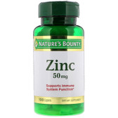 Buy UK Zinc Chelated 50 mg 100 Caplets Nature's Bounty Online, UK Delivery, Mineral Supplements