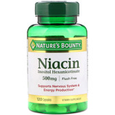 Buy Flush Free Niacin 500mg 120 Caps Nature's Bounty Online, UK Delivery, Cardiovascular Cholesterol Balance Support Flush Free Niacin Treatment