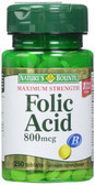Buy Folic Acid Maximum Strength 800 mcg 250 Tabs Nature's Bounty Online, UK Delivery, Folic Acid Prenatal Vitamin Pregnancy