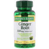 Buy Ginger Root 550 mg 100 Caps Nature's Bounty Online, UK Delivery, Herbal Remedy Natural Treatment