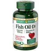 Buy Fish Oil + D3 90 sGels Nature's Bounty Online, UK Delivery, EFA Omega EPA DHA