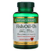 Buy Fish Oil + D3 90 sGels Nature's Bounty Online, UK Delivery, EFA Omega EPA DHA
