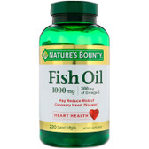 Buy Odorless Fish Oil Omega-3 1000 mg 220 Coated sGels Nature's Bounty Online, UK Delivery, EFA Omega EPA DHA