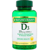 Buy D3-1000 IU High Potency 250 sGels Nature's Bounty Online, UK Delivery, Gluten Free Vitamin D3