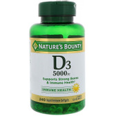 Buy D3 Maximum Strength 5000 IU 240 sGels Nature's Bounty Online, UK Delivery, Gluten Free Vitamin D3