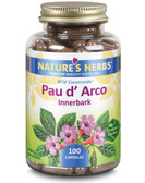 Buy Pau d' Arco Innerbark 100 Caps Nature's Herbs Online, UK Delivery, Herbal Remedy Natural Treatment
