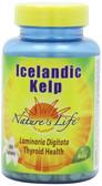 Buy Icelandic Kelp 500 Tabs Nature's Life Online, UK Delivery, Thyroid Treatment Formulas Supplements