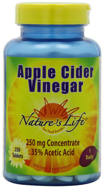 Buy Apple Cider Vinegar 250mg 250 Tabs Nature's Life Online, UK Delivery, Apple Cider Vinegar