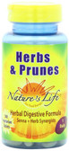 Buy Herbs & Prunes 100 Veggie Tabs Nature's Life Online, UK Delivery, Digestion Stomach Treatment Pain Relief Remedy Digestive Aid