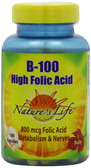 Buy B-100 High Folic Acid 100 Caps Nature's Life Online, UK Delivery, Vitamin B Complex