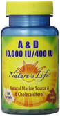 Buy A & D 10 000 IU/400 IU 100 Veggie Caps Nature's Life Online, UK Delivery, Vitamin A D