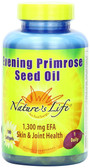 Buy Evening Primrose Seed Oil 100 sGels Nature's Life Online, UK Delivery, EFA Omega EPA DHA