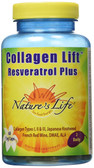 Buy Collagen Lift Resveratrol Plus 60 Veggie Caps Nature's Life Online, UK Delivery, Women's Supplements Vitamins For Women Skin