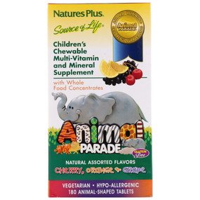 Buy Animal Parade Children's Chewable Multi-Vitamin & Mineral Assorted Flavors 180 Animals Nature's Plus Online, UK Delivery