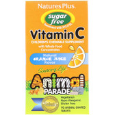 Buy Source of Life Animal Parade Vitamin C Sugar Free Natural Orange Juice Flavor 90 Animals Nature's Plus Online, UK Delivery, Chewable Vitamin C