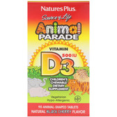 Buy Source of Life Animal Parade Vitamin D3 Natural Black Cherry Flavor 500 IU 90 Animals Nature's Plus Online, UK Delivery, Vitamin A D