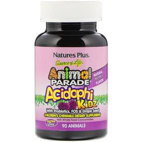 Buy Source of Life Animal Parade AcidophiKidz Children's Chewable Natural Berry Flavor 90 Animals Nature's Plus