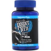 Power Teen For Him Wild Berry, 60 Chewables, Nature's Plus