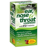 Buy Adult's Ear Nose & Throat Lozenges Tropical Cherry Berry 60 Lozenges Nature's Plus Online, UK Delivery, Throat Care Spray
