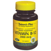 Buy Vitamin B-12 2000 mcg 60 Tabs Nature's Plus Online, UK Delivery, Vitamin B12 Cyanocobalamin