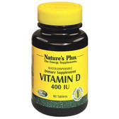 Buy Vitamin D 400 IU 90 Tabs Nature's Plus Online, UK Delivery, Vitamin D 2 Ergocalciferol Gluten Free