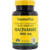 Buy Niacinamide 1000 mg 90Tabs Nature's Plus Online, UK Delivery, Vitamin B3 Niacinamide
