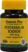 Buy Potassium Iodide 150 mcg 100 Tabs Nature's Plus Online, UK Delivery, Mineral Iodine Potassium Iodide
