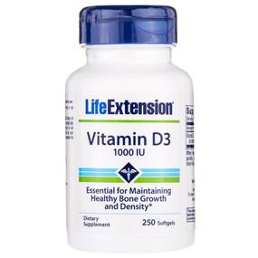 Life Extension Vitamin D3 1,000 IU 250 Softgels, UK