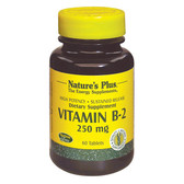 Buy Vitamin B-2 250 mg 60 Tabs Nature's Plus Online, UK Delivery, Vitamin B2 Riboflavin Gluten Free