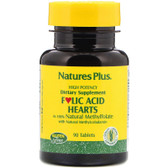 Buy Folic Acid Hearts 90 Tabs Nature's Plus Online, UK Delivery, Folic Acid Prenatal Vitamin Pregnancy