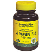 Buy Vitamin B-2 100 mg 90 Tabs Nature's Plus Online, UK Delivery, Vitamin B2 Riboflavin Gluten Free