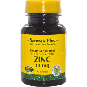 Buy Zinc 10 mg 90 Tabs Nature's Plus Online, UK Delivery, Mineral Supplements