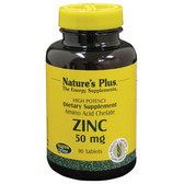 Buy Zinc 50 mg 90 Tabs Nature's Plus Online, UK Delivery, Mineral Supplements
