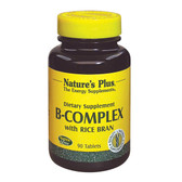 Buy B-Complex with Rice Bran 90 Tabs Nature's Plus Online, UK Delivery, Vitamin B Complex