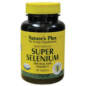 Buy Super Selenium 200 mcg 90 Tabs Nature's Plus Online, UK Delivery, Antioxidant
