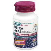 Buy Herbal Actives Ultra Acai Extended Release 1200 mg 30 Bi-Layered Tabs Nature's Plus Online, UK Delivery, Juice Fruit Extract