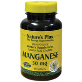 Buy Manganese 50 mg 90 Tabs Nature's Plus Online, UK Delivery, Mineral Supplements Gluten Free