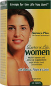 Buy Source of Life Women Multi-Vitamin and Mineral Supplement 120 Tabs Nature's Plus Online, UK Delivery