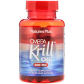 Buy Omega Krill Oil 600 mg 60 Liquid-Filled Caps Nature's Plus Online, UK Delivery, EFA Omega EPA DHA