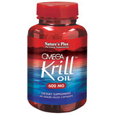 Buy Omega Krill Oil 600 mg 60 Liquid-Filled Caps Nature's Plus Online, UK Delivery, EFA Omega EPA DHA