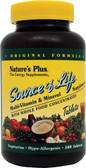 Buy Source of Life Multi-Vitamin & Mineral Supplement 180 Tabs Nature's Plus Online, UK Delivery, Gluten Free