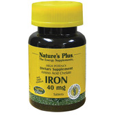 Buy Iron 40 mg 180 Tabs Nature's Plus Online, UK Delivery, Mineral Supplements