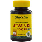 Buy Vitamin D3 5000 IU 60 sGels Nature's Plus Online, UK Delivery, Vitamin A D