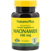 Buy Niacinamide 500 mg 90 Tabs Nature's Plus Online, UK Delivery, Vitamin B3 Niacinamide Gluten Free