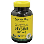 Buy L-Lysine 500 mg 90 Veggie Caps Nature's Plus Online, UK Delivery, Amino Acid Gluten Free