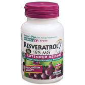 Buy Herbal Actives Resveratrol 125 mg 60 Veggie Tabs Nature's Plus Online, UK Delivery,